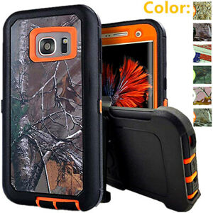 For Samsung Galaxy S7 / S7 Edge Camo Shockproof Case Clip Fits Otterbox Defender