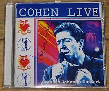 LEONARD COHEN HAND SIGNED LIVE IN CONCERT CD UACC REGISTERED DEALER