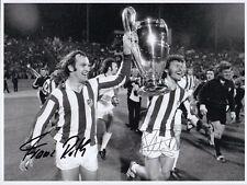 Paul Breitner & Franz Roth FC Bayern 20x25 GF original Autogramm signiert signed