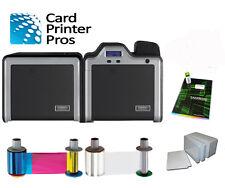 Fargo HDP5000 Dual-Side ID Card Printer w/ Mag Encoder & Supplies Bundle