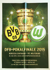 Spielplakat DFB-Pokalendspiel Borussia Dortmund - Wolfsburg, 30.05.2015, WM 2014