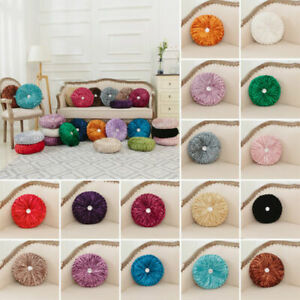 New Crushed Velvet Cushion Round Square Filled Smal& Large Stitched with Diamond