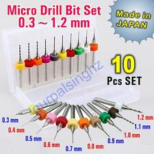 C10 Pcs PCB Print Circuit Board Carbide Micro Drill Bits Tool Set 0.3mm to 1.2mm