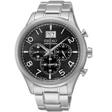 Seiko SPC153 P1 Stainless Steel Black Dial Men's Analog Quartz Chronograph Watch