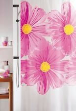 Spirella Big FLOWER Floral Pink Yellow TEXTILE Polyester SHOWER CURTAIN 180x180