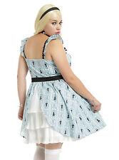 Disney ALICE IN WONDERLAND Ruffle Cosplay Dress Plus Size 1X 2X 16 18 Torrid NEW