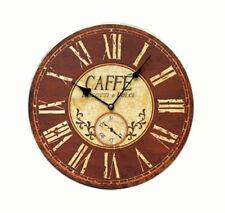 Wall Clock Wooden Ø34cm Vintage Coffee Cookies Confectionery Furniture Bar Home