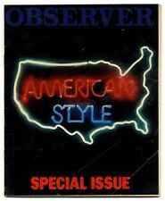 Observer Magazine 13 May 1979 America special. Buskers Architecture Truckers...