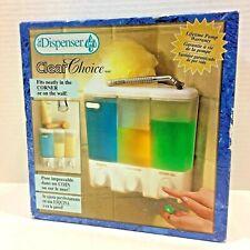 NEW Better Living Clear Choice Shower 3 Compartment Soap/Shampoo Pump Dispenser