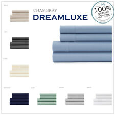 1000Thread count 100% cotton 4p flat, fitted bed sheet set king queen double