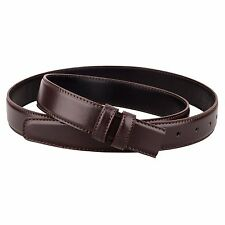 Replacement Brown Leather Belt Strap for Mens belts Fits Ferragamo buckles 34""