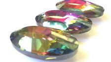 3pc Vitrail Rainbow 50mm Oval Chandelier Crystal MultiColor Suncatcher Prism