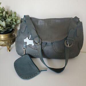 Radley Leather Hobo Tote Shoulder Bag Green