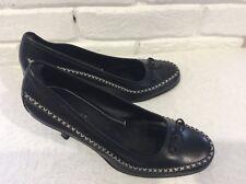 Nine West black, cream court shoes size 8m/uk 6