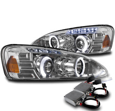 04-08 PONTIAC GRAND PRIX HALO LED PROJECTOR HEADLIGHTS LAMPS CHROME W/50W 8K HID