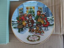 Avon Perfect Harmony 1991 Christmas Plate Collector Plates 22K Gold Trim