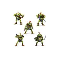 ORCS - set of 5 MINIATURES (54mm scale, plastic, unpainted) by TEHNOLOG