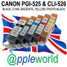 [ANY 5] CLI526 & PGI525 CHIPPED Ink carts compatible with CANON PIXMA printers