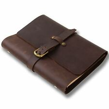 Ancicraft Classic Refillable Leather Journal With Strap Buckle A5 Binder Lined