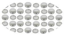 100 Buttons 19mm Self Cover Flat Back Flatback Cabochon Button DIY