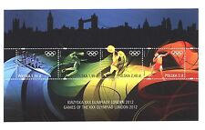 OLYMPIC stamps LONDON 2012 POLAND - Volleyball Rowing Athletics Weightlifting