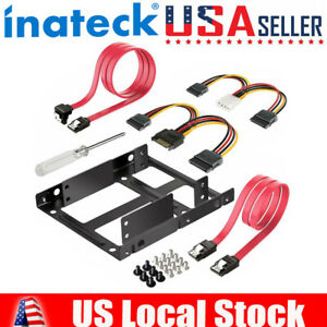 2.5 to 3.5 Adapter, Inateck SSD Mounting Bracket with SATA Cables & Power Cable