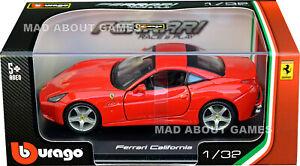 FERRARI CALIFORNIA 1:32 Scale Model Models Metal Toy Car Diecast Miniature Red
