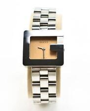 "GUCCI - Silver ""G"" Logo Bezel Women's Stainless Steel Quartz Watch (r)"