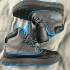 Nike ACG GS Waterproof Boots - Blue, Grey & Black - Youth Size 6Y (486891-040)