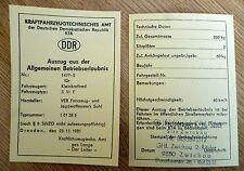grün blanko DDR Betriebserlaubnis SIMSON S 51 E KTa Nr 1477-5 ENDURO ABE 60kmh