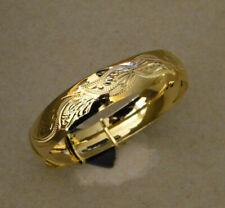 Women's Lady's Yellow Gold Plated Bangle Bracelet 16mm Wide New Fashion Jewelry