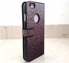 Faded Purple Made with Swarovski Crystals Bling Card Wallet Case iPhone 7 Plus