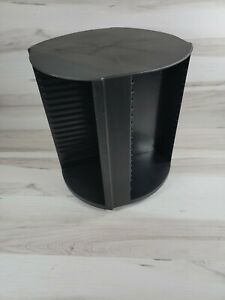 Vintage Laserline 80 CD/DVD Rotating Storage Tower Carousel Black CD Holder