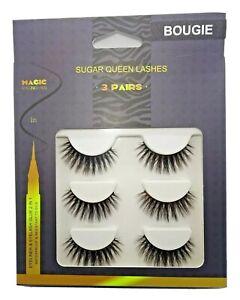Pack of 3 - 5D Mink lashes with Tweezers & Black Adhesive Liner (Magic eyeliner)
