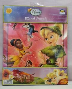 Disney Fairies Tinkerbell & The Lost Treasure Wood Jigsaw Puzzle MIB 9 pieces