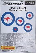 Xtradecal 1/72 X72260 RAAF/RNZAF National Insignia (Roundels)