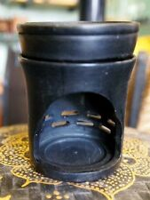 SOAPSTONE OIL BURNER 1703 Hand Carved CERAMIC Incense TEA LIGHT HOLDER - NEW!
