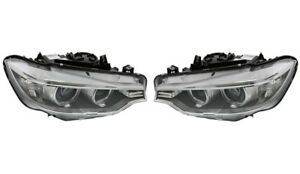 Left & Right Marelli Bi-Xenon Adaptive Headlights Pair Set For BMW F33 F80 435i