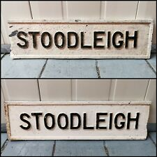 More details for vintage cast iron antique street sign town stoodleigh tiverton exeter devon