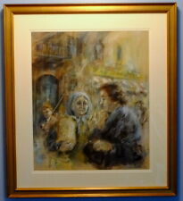 Expressionist Pastel by Listed American Artist Monroe Reisman (1911-2004)