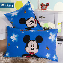 New Disney Mickey Mouse PillowCases Boys PillowCovers 100% Cotton Kids Favorite