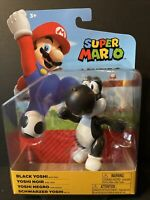 Nintendo Super Mario - Black Yoshi With Egg Figure Jakks - 4""