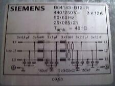 Siemens Netzfilter!! B84143-B12-R!! NAGELNEU!!Powerfilter!! Günstig