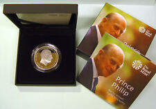 Großbritannien 5 £ Pounds Silver Proof Prince Philip Life of Service UK 2017 GB