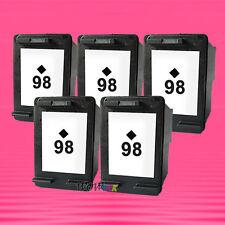 5 Non-OEM Alternative Ink Cartridge for HP 98 Black C4180 D5060