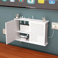 Wifi Router Shelf Storage Box Wall Mounted Cable Wire Hanging Bracket TV CD Box