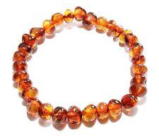 Baltic Amber Genuine Adult Stretch Baroque Choose Color Beads Bracelet