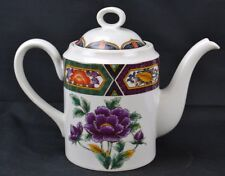 Georges Briard Amethyst Kutani Tea Pot Reproduction of Japanese Porcelain