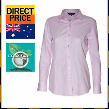 Striped 100% Cotton Button Down Shirts for Women