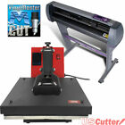 "28"" USCutter MH721 Vinyl Cutter w/VinylMaster Cut + 15""x15"" Clamshell Heat Press"